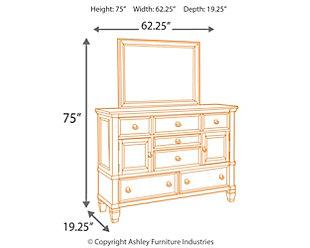 Greensburg Dresser and Mirror, , large
