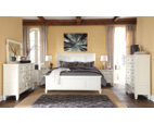 White Prentice King Panel Bed View 4