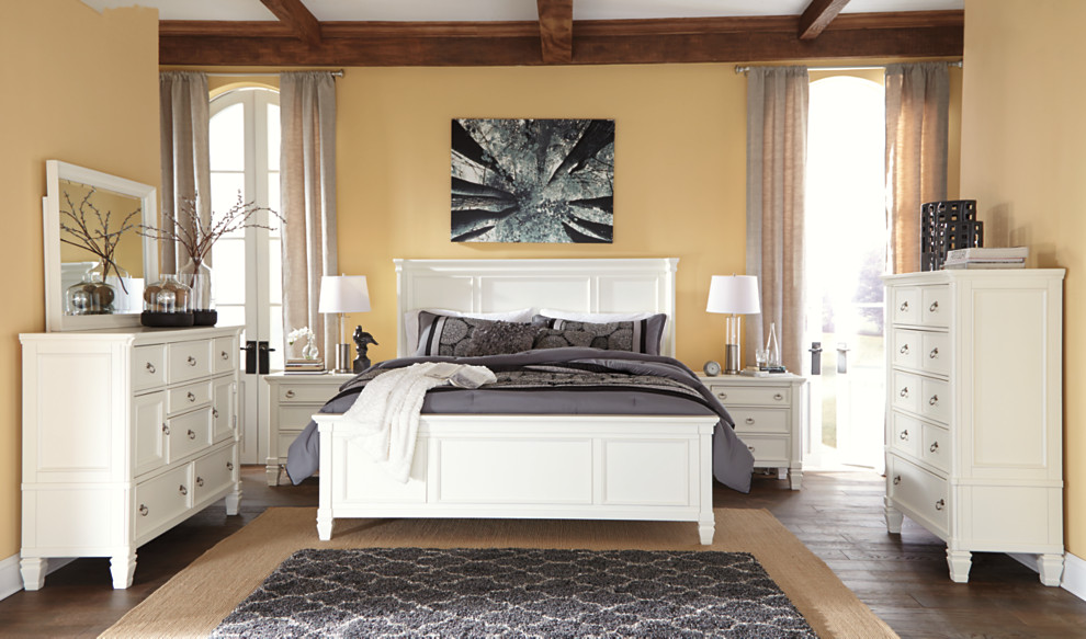 Prentice white bedroom set with gray accents. Prentice Dresser   Corporate Website of Ashley Furniture