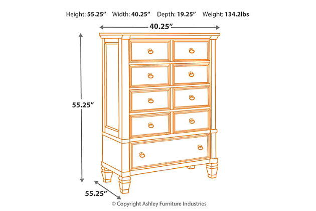 Prentice Chest of Drawers, , large