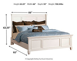 Prentice Queen Panel Bed, White, large