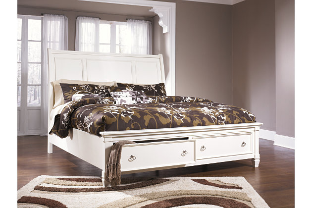 Prentice Queen Sleigh Bed with Storage | Ashley Furniture HomeStore