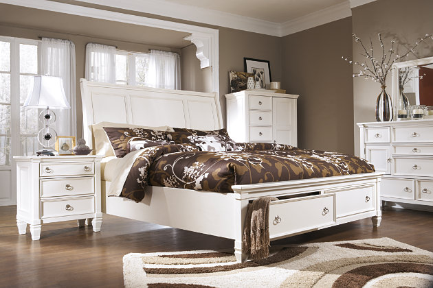 Prentice Queen Sleigh Bed With Storage Ashley Furniture