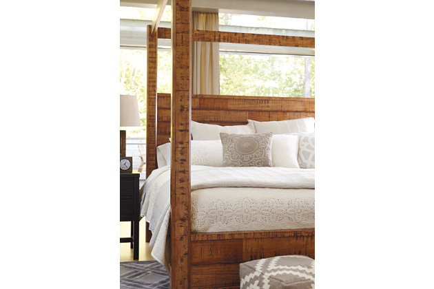 wesling queen poster bed | ashley furniture homestore
