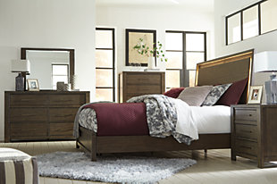 Camilone Queen Bed with 2 Nightstands, , large
