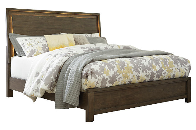 Camilone Queen Panel Bed, Dark Gray, large