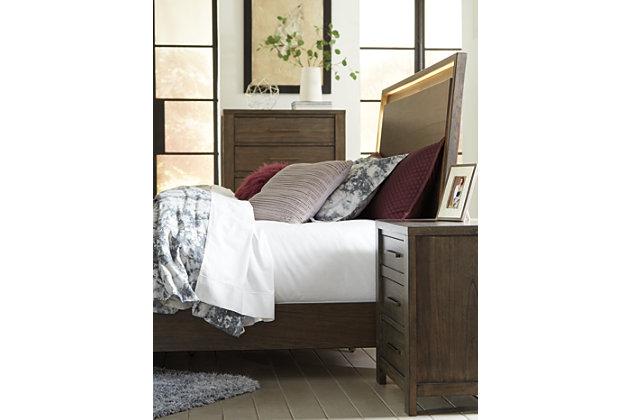 Camilone King Panel Bed, Dark Gray, large