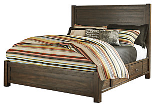 Rokane King Poster Bed with Storage, , large