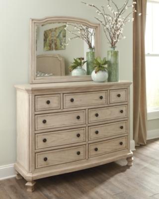 Mirror Parchment White Dresser Product Photo 412