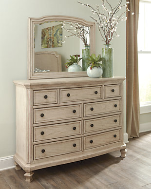 Demarlos Dresser and Mirror, , large