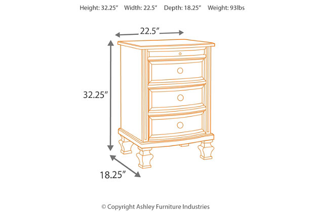 demarlos nightstand | ashley furniture homestore