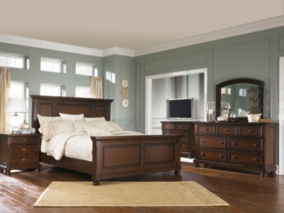 Porter Queen Panel Bed With Mirrored Dresser Ashley Furniture Homestore