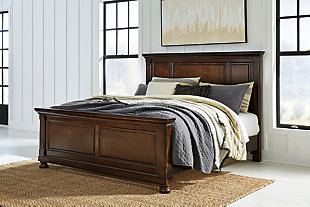 Porter Queen Panel Bed with Mirrored Dresser, Rustic Brown, rollover