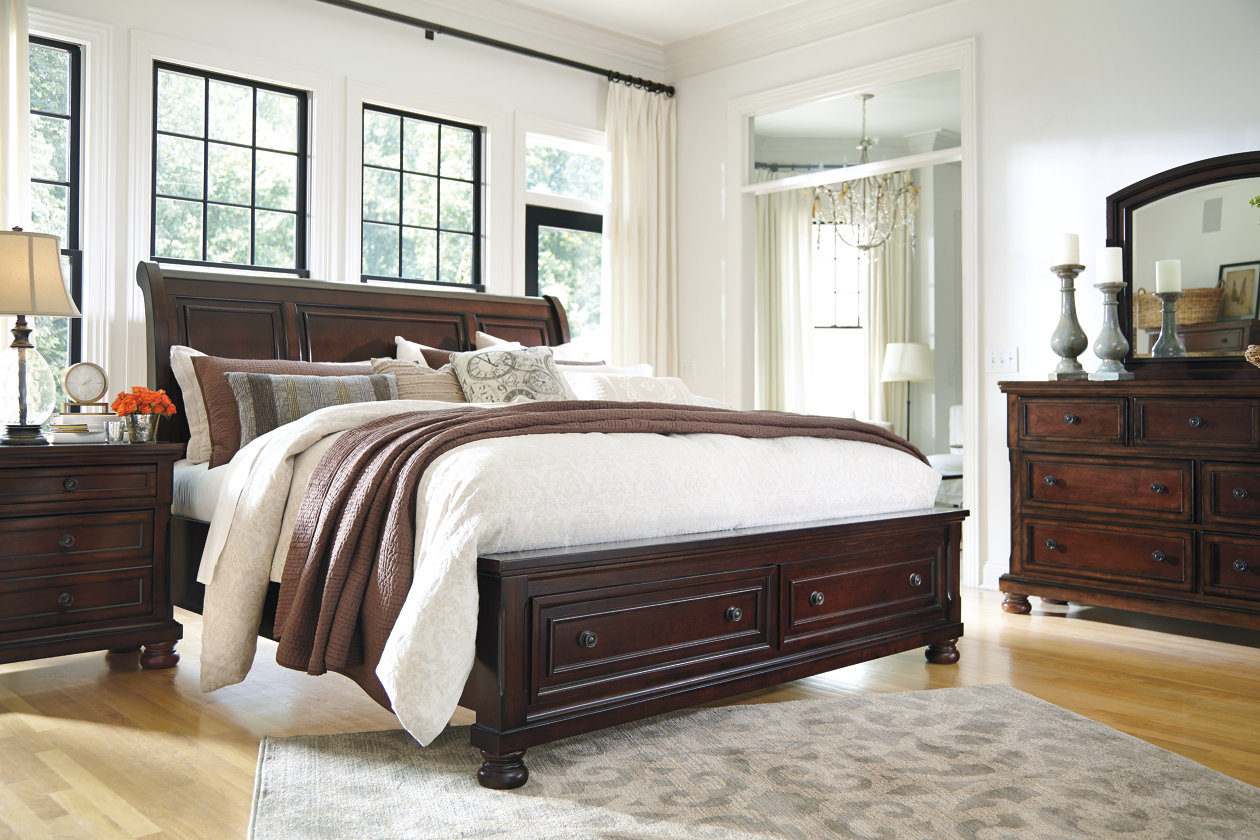 Porter Queen Sleigh Bed | Ashley Furniture HomeStore