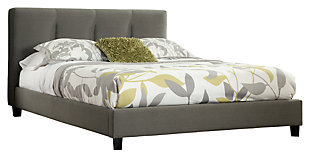 Masterton Queen Upholstered Headboard, Gray, large