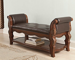 ... large Ledelle Upholstered Bench, , rollover