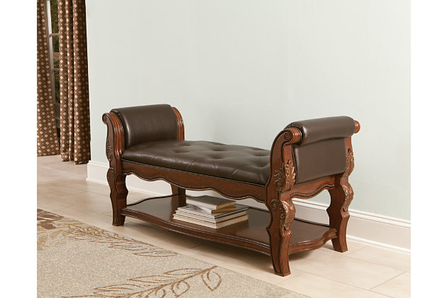 Ledelle upholstered bench ashley furniture homestore - Ashley furniture bedroom benches ...