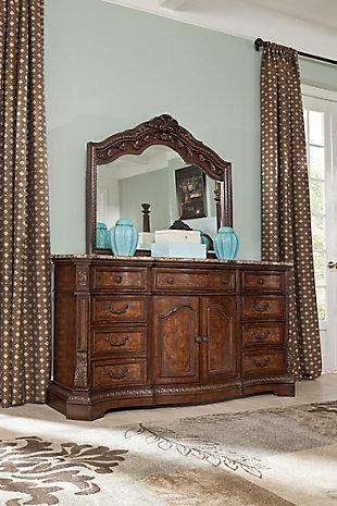 Ledelle Dresser and Mirror, , large