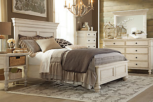 Marsilona California King Panel Bed, White, large