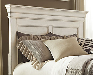 Marsilona Queen Panel Headboard, White, rollover