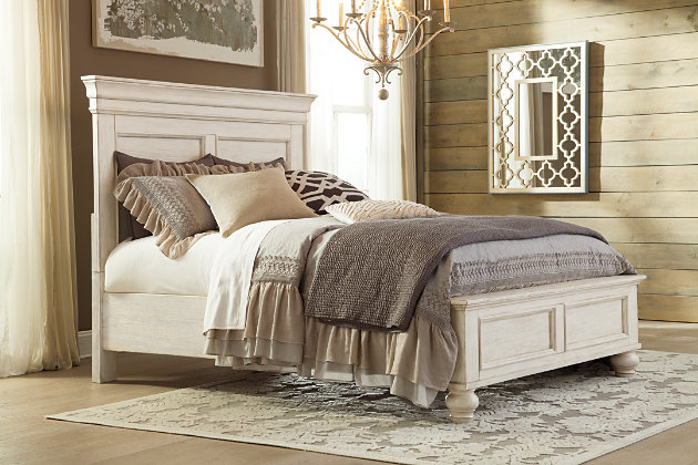 Marsilona Queen Panel Bed, White, large