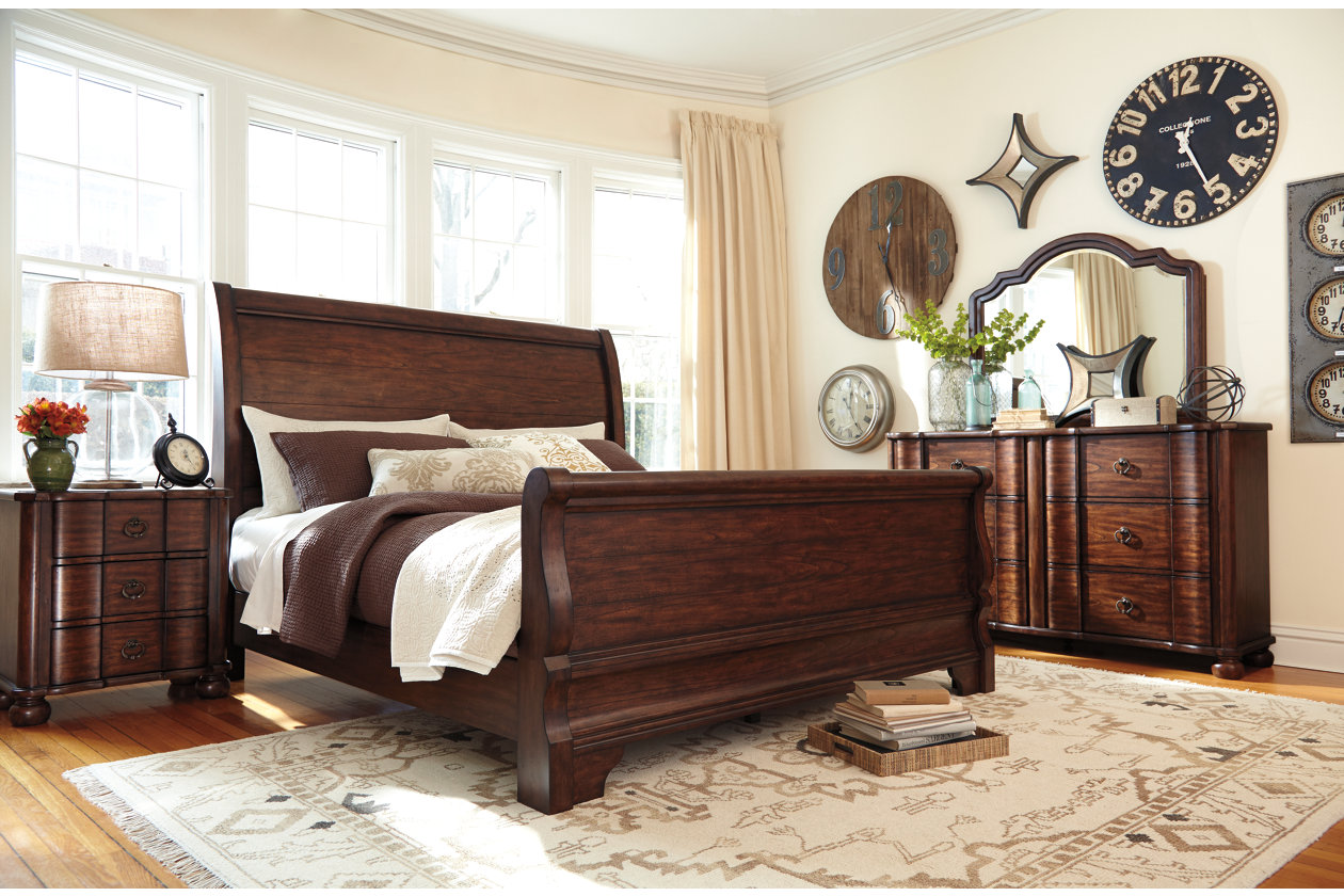 Hadelyn Sleigh Bed #furniture