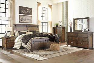 Lakeleigh Queen Panel Bed, Brown, large