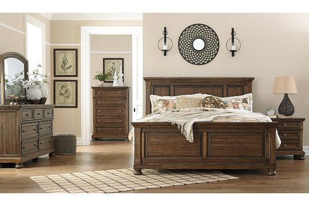 Flynnter Queen Panel Bed, Medium Brown, large