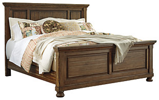 Flynnter King Panel Bed, Medium Brown, large