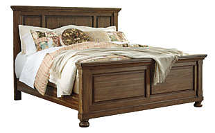 Flynnter Queen Panel Bed, Medium Brown, large