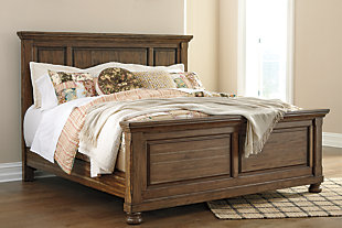 Flynnter King Panel Bed, Medium Brown, rollover