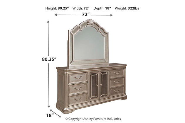 Birlanny Dresser and Mirror, , large