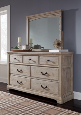 Mirror White Wash Dresser Product Photo 779
