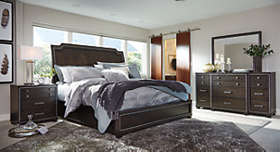 Zimbroni 5-Piece Queen Bedroom, Brown, rollover