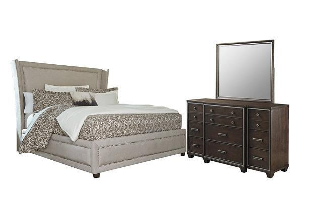 Zimbroni 5-Piece King Upholstered Bedroom, , large