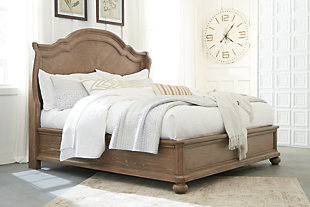 Ollesburg Queen Panel Bed, Brown, rollover