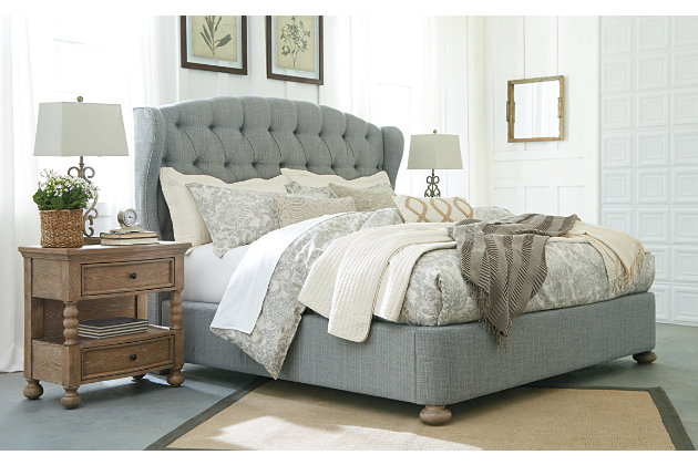 Ollesburg Queen Upholstered Bed, Gray, large