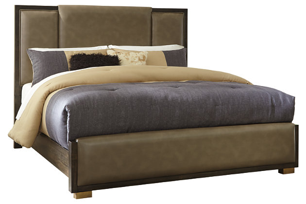 Chaliene Queen Panel Bed, Brown, large
