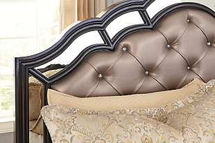 Quinshire Queen Panel Bed, Dark Brown, large