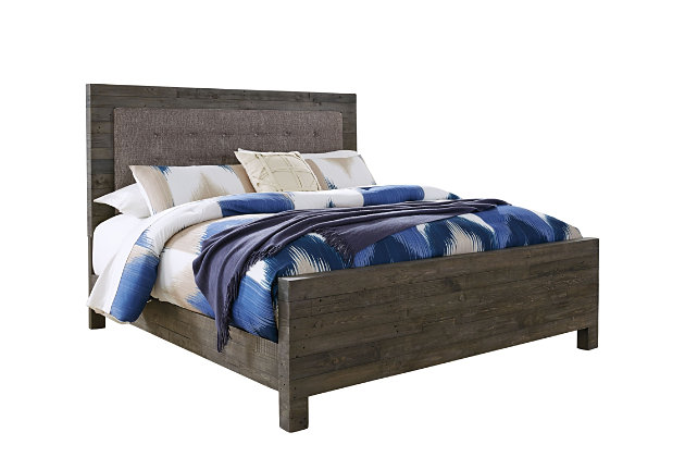 Mayflyn King Panel Bed, Gray, large