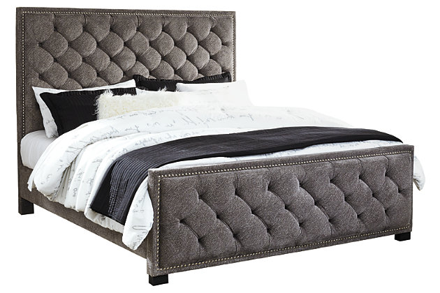 Halamay Queen Upholstered Bed, Gray, large