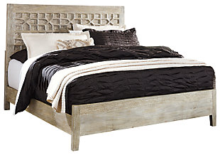 Halamay Queen Panel Bed, Gray, large