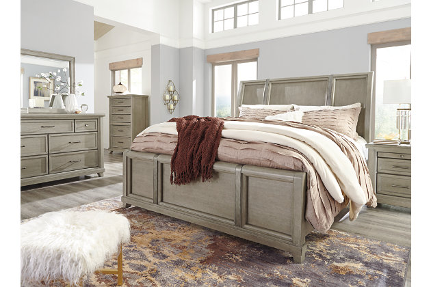 Chapstone King Sleigh Bed, Gray, large