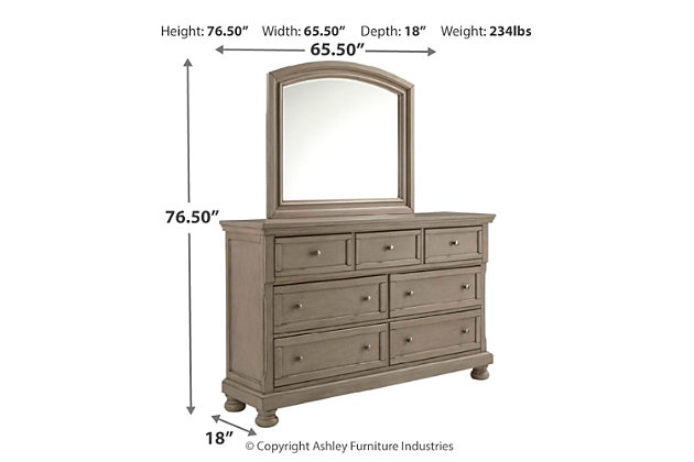 Lettner Dresser and Mirror, , large