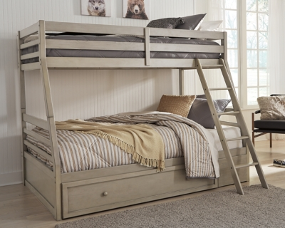 Picture of: Lettner Twin Over Full Bunk Bed With 1 Large Storage Drawer Ashley Furniture Homestore