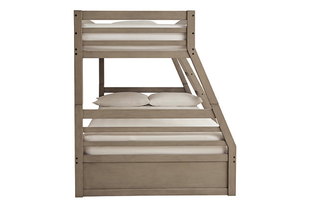 Lettner Twin over Full Bunk Bed with 1 Large Storage Drawer, , large