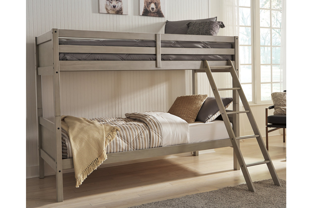 Lettner Twin Twin Bunk Bed With Ladder Ashley Furniture Homestore