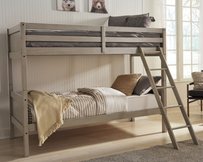 Picture of: Lettner Twin Twin Bunk Bed With Ladder Ashley Furniture Homestore