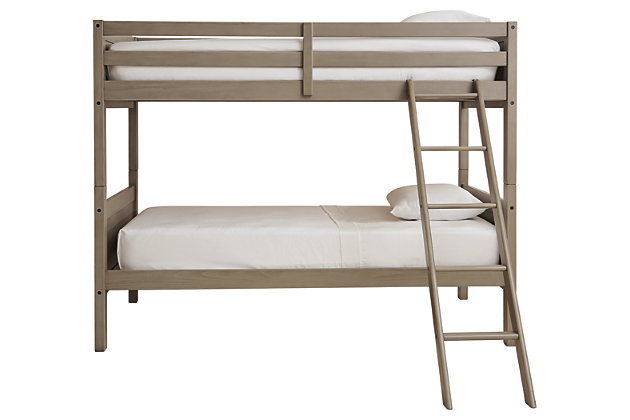 Lettner Twin/Twin Bunk Bed with Ladder, , large