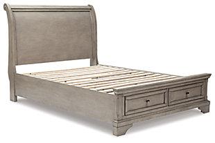 Lettner Full Sleigh Bed, Light Gray, large